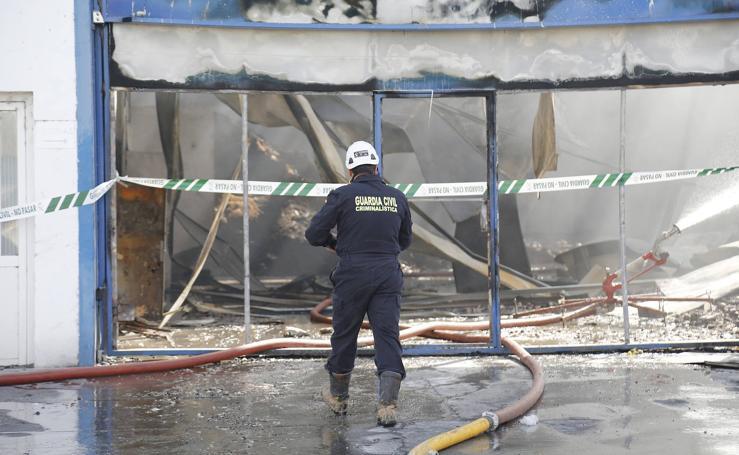 La Guardia Civil investiga las causas del incendio en Venta de Baños