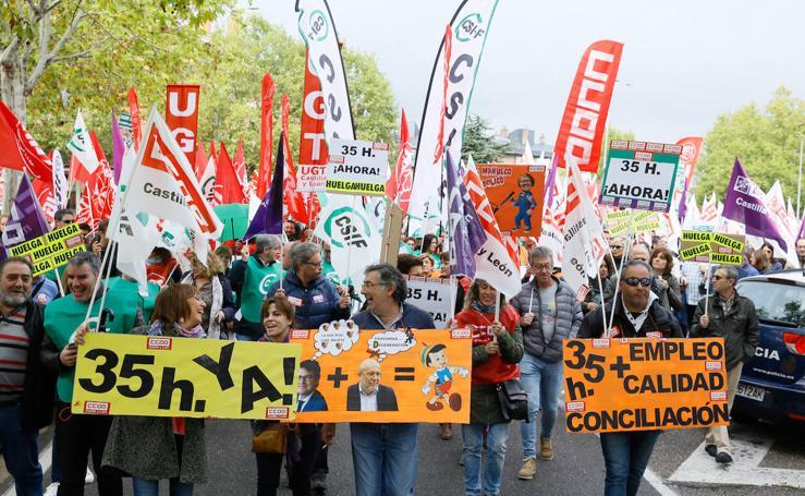 1.500 trabajadores públicos reclaman la aplicación de las 35 horas