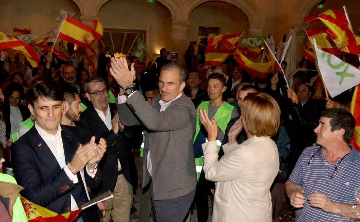 Javier Ortega Smith participa en un mitin de Vox en Segovia