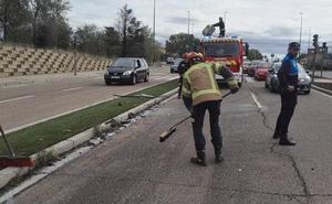 Herido tras un alcance entre dos coches en la Carretera de Soria de Valladolid