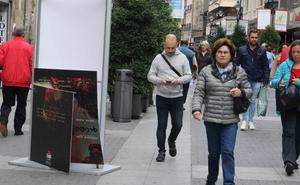 Amanecen destrozados varios carteles de la Seminci en la calle Santiago de Valladolid