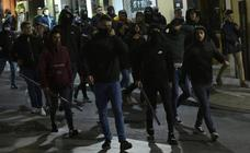 Manifestaciones en contra y a favor de los disturbios en Cataluña a raíz de la sentencia del procés
