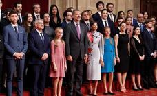 La recepción de la Familia Real en los Premios Princesa de Asturias