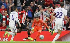 Jordi Masip, el mejor del Real Valladolid en Bilbao