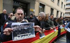 Concentración en Valladolid de apoyo a Policía Nacional en Cataluña
