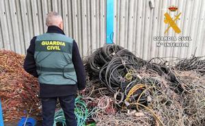 Detenidos por el robo de 700 kilos de cableado de minería en Palencia