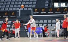 La selección femenina de baloncesto prepara el partido contra Francia en Palencia