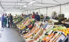 El mercado de frutas de Valladolid ya ofrece su género en la calle Muro