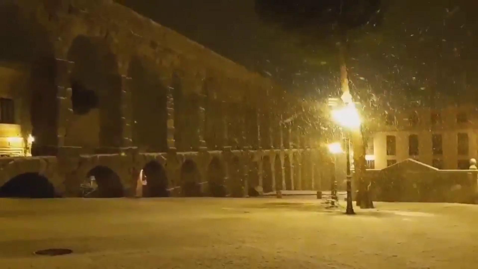 Nevadas por el temporal Gloria en Segovia
