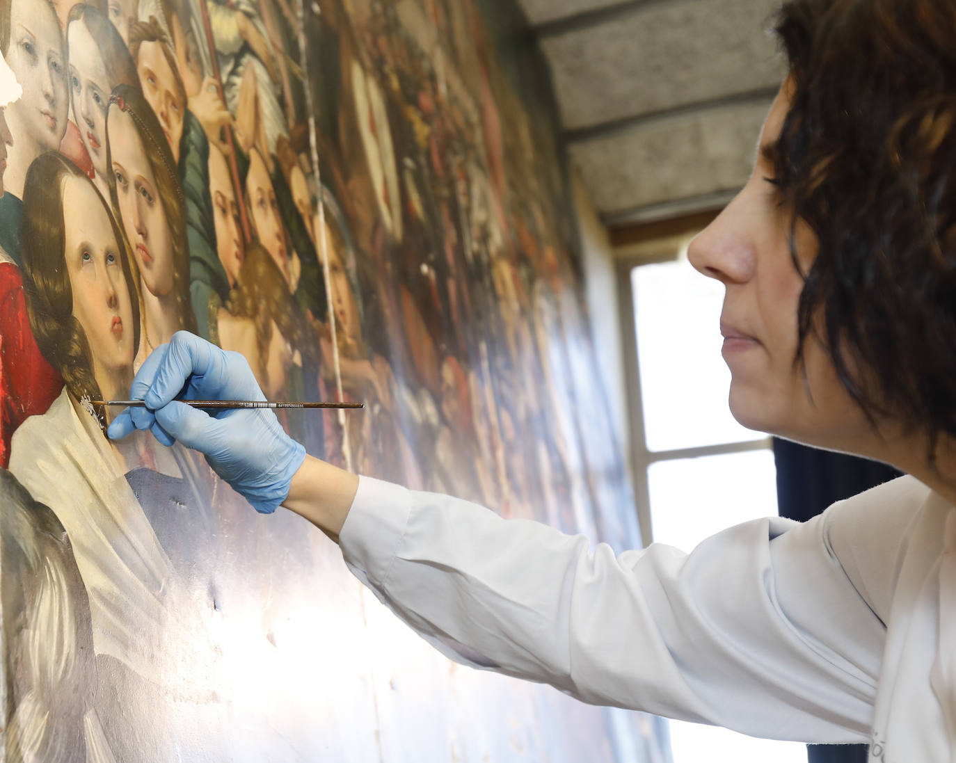 Talleres de restauración en el seminario menor de Palencia