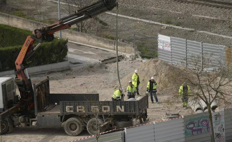 Inicio de las obras del túnel de Andrómeda de Valladolid