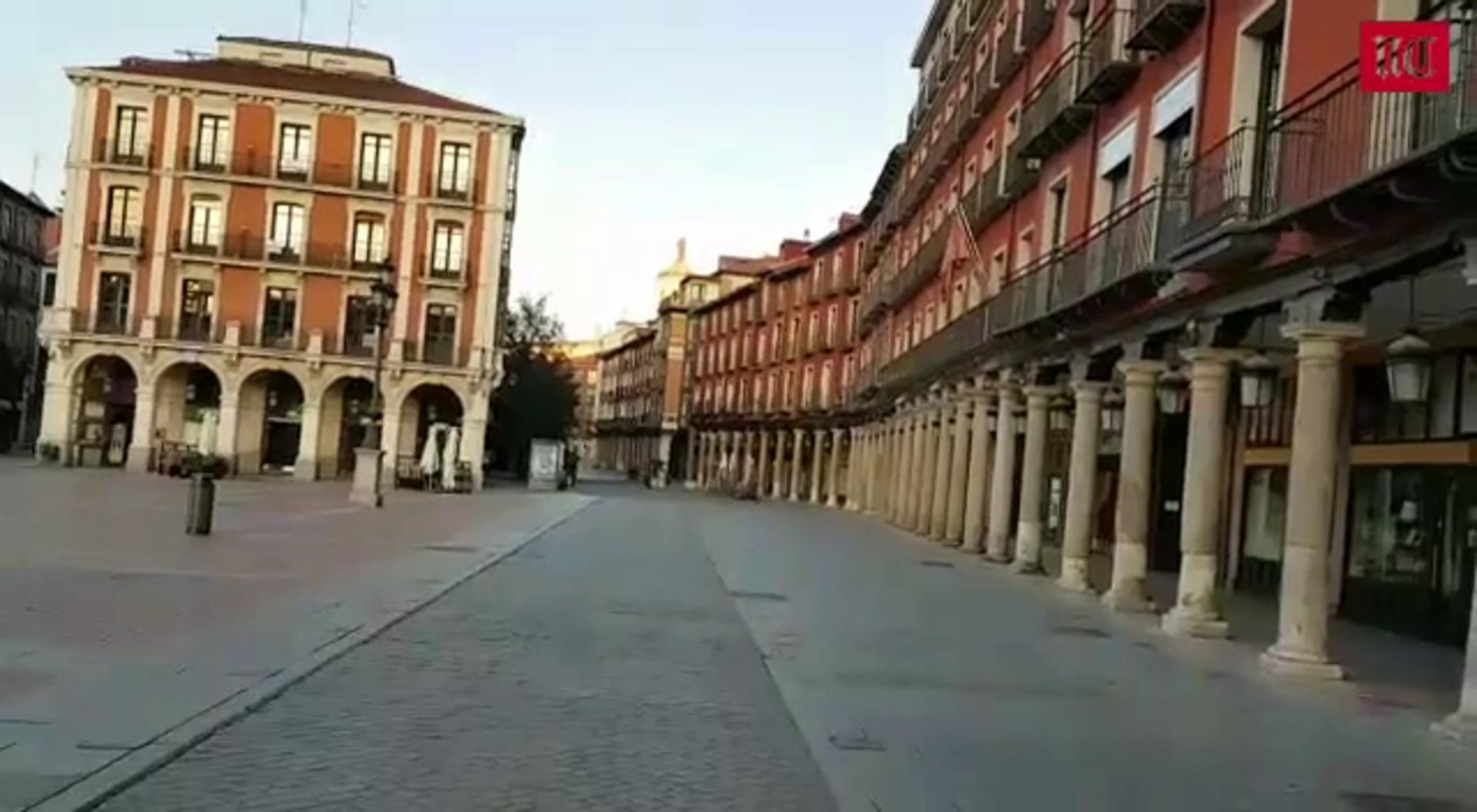 Aspecto de la Plaza Mayor de Valladolid el viernes por la tarde
