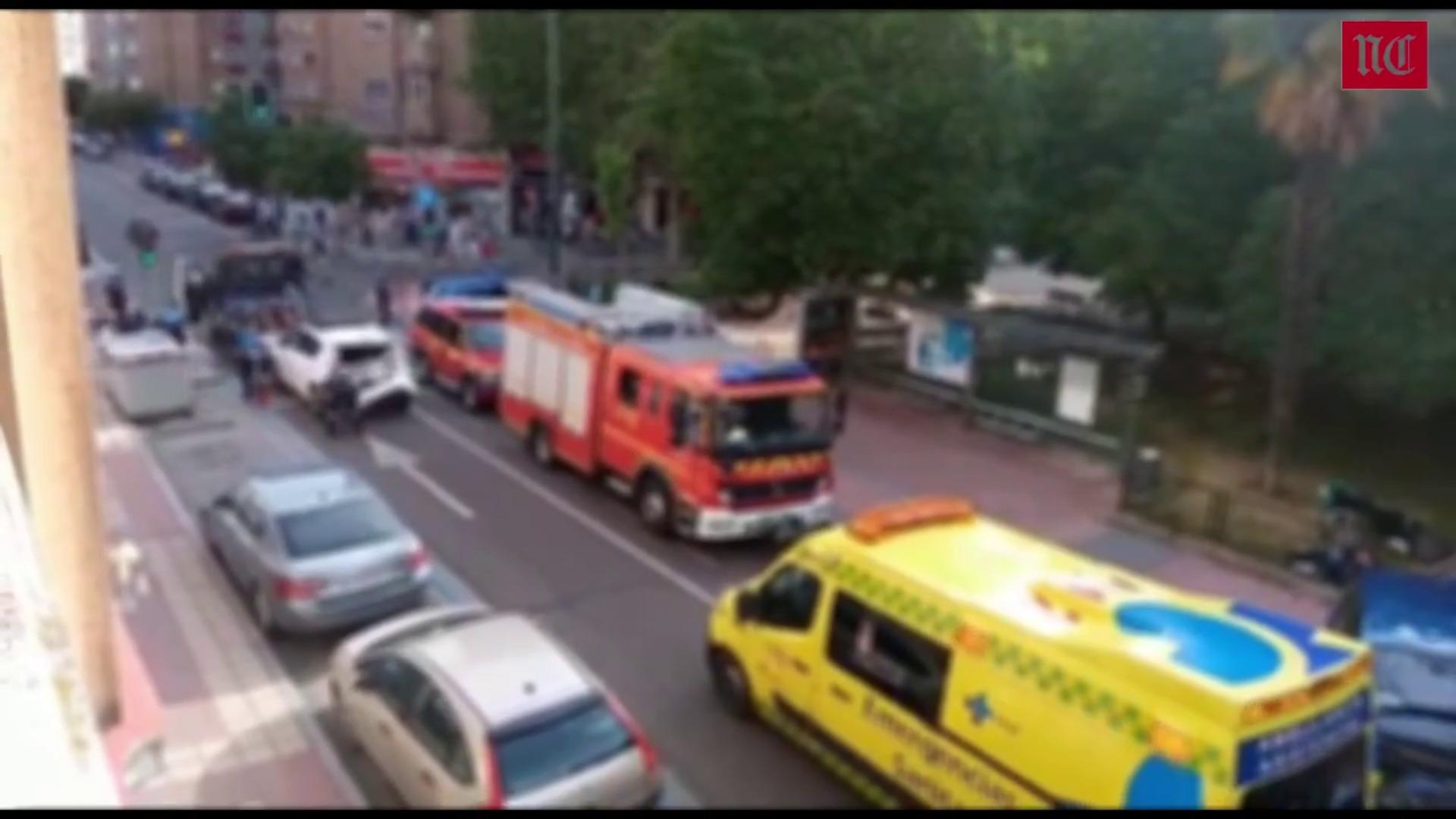 Fallece un conductor que embistió a tres vehículos en Valladolid