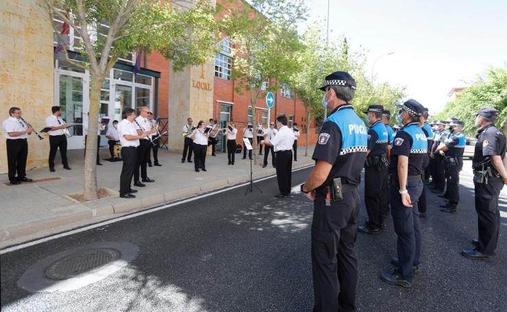 La Banda de Música de Palencia homenajea a la Policía Local