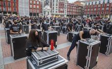 Protesta de los trabajadores del sector del espectáculo en Valladolid