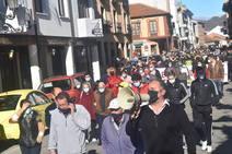 Manifestación de hosteleros en Cervera de Pisuerga