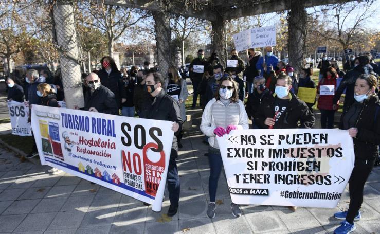 Manifestación de los hosteleros en Valladolid