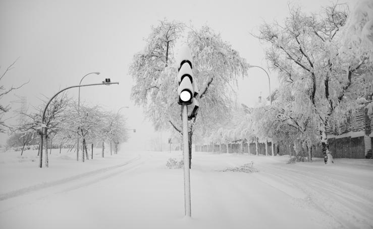 La nevada del siglo cae sobre Madrid