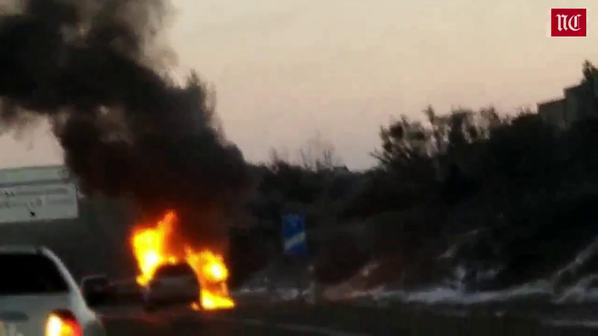 Un vehículo se incendia fortuitamente en Boecillo