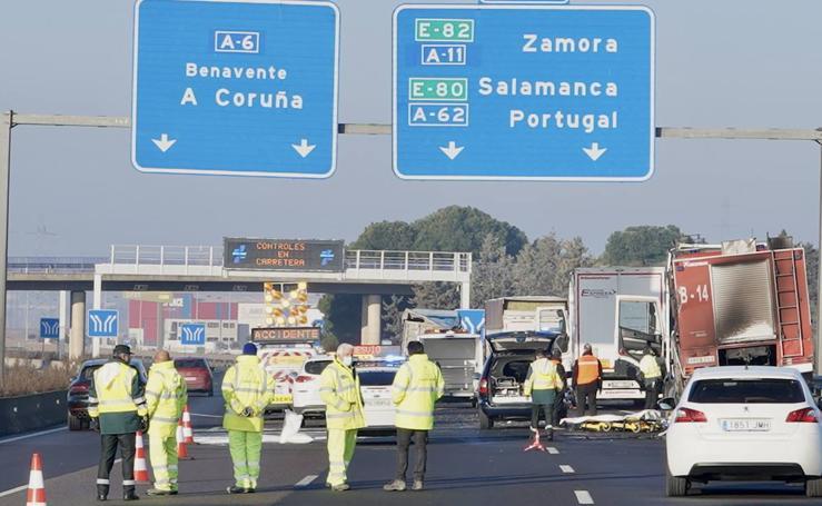 Tres camioneros fallecidos en Tordesillas tras sufrir un atropello