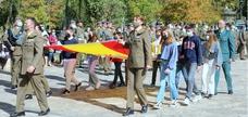 Homenaje a la Bandera Nacional en Torquemada