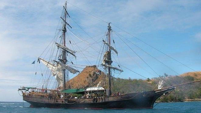 El barco de 'Piratas del Caribe', hundido