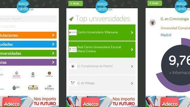 La primera app móvil para consultar notas de corte universitarias