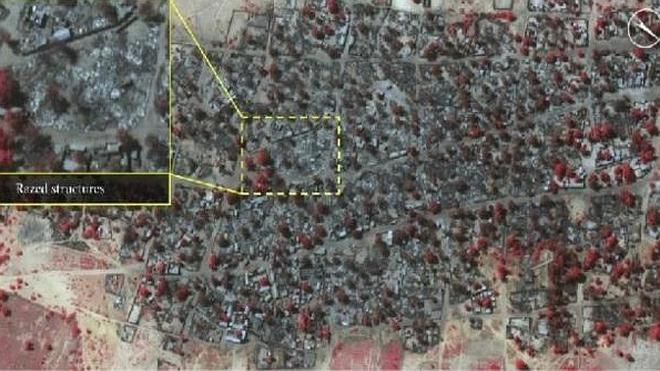 Imágenes por satélite muestran la destrucción causada por Boko Haram en Baga y Doro Gowon