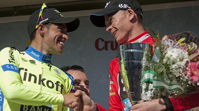 Froome gana el primer duelo con Contador