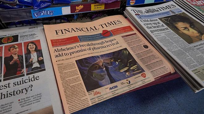 Pearson anuncia la venta del 'Financial Times' al periódico japonés Nikkei