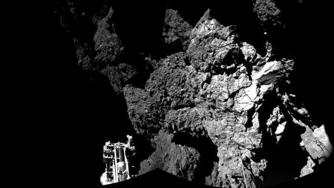 El módulo Philae encuentra compuestos orgánicos en el cometa 67P