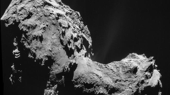 La sonda Rosetta halla una «sorprendente» presencia de oxígeno en el cometa 67P