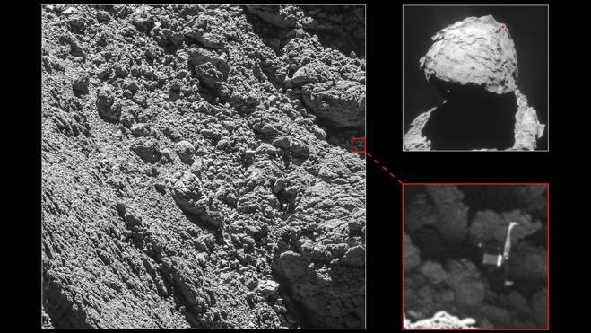 Rosetta fotografía a su robot Philae