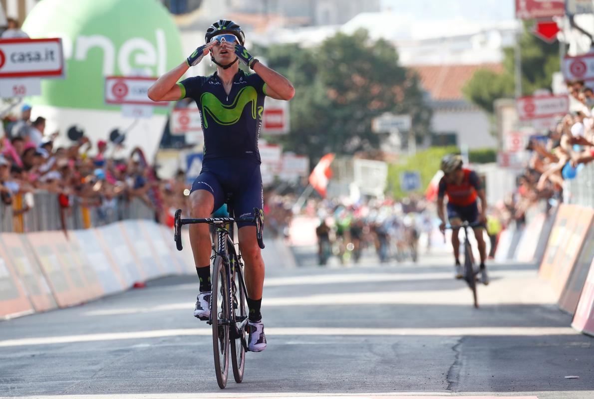 Gorka Izagirre gana en el Gargano
