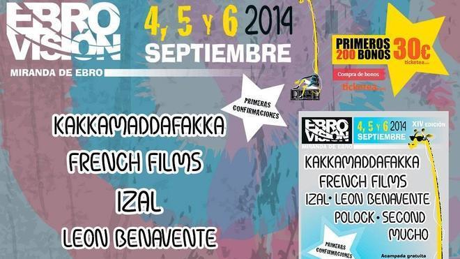 Vetusta Morla, Reptile Youth, el Columpio asesino y Novedades Carminha estará en el Festival Ebrovisión 2014
