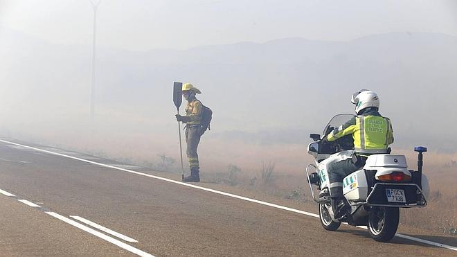 Rebajado de 'nivel 1' a cero el incendio forestal registrado en Camposagrado