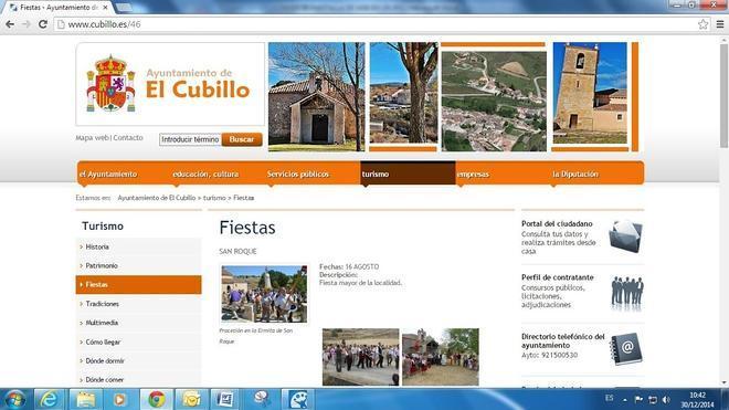 El Cubillo muestra sus fiestas, tradiciones y gastronomía en su sitio digital