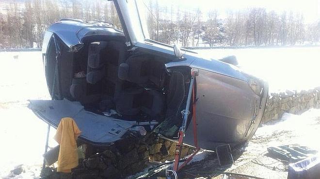 Dos heridos en un accidente de tráfico en la localidad abulense de Bonilla de la Sierra