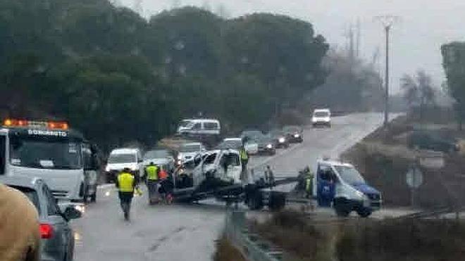 El conductor que provocó en enero la muerte de otro en Cogeces alega que no pudo frenar por el hielo