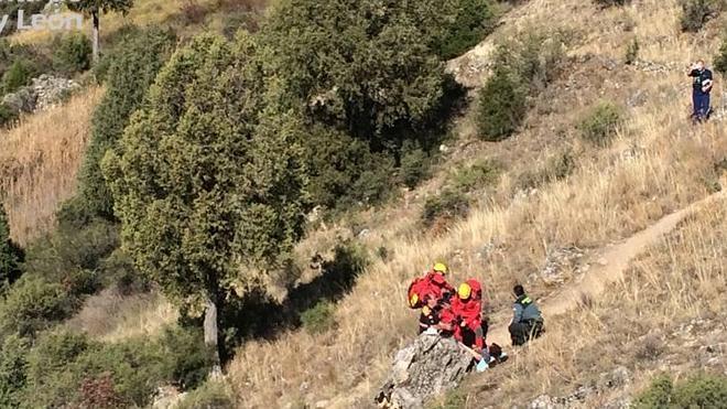 Rescatada una mujer herida durante la romería de San Frutos