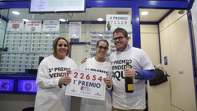 El Niño deja un pellizco del primer premio en Vialia y a dos hermanas de Tordillos