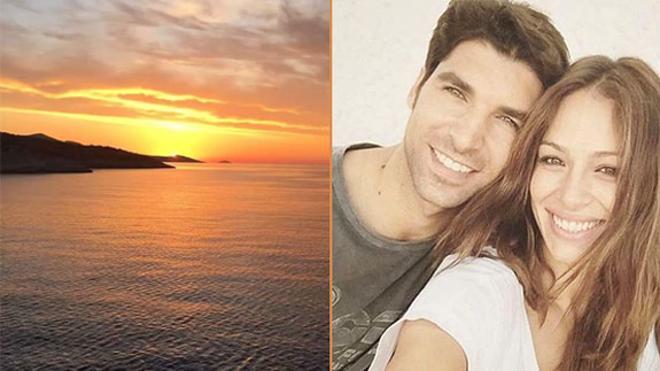 Eva González y Cayetano Rivera, de vacaciones por Santorini
