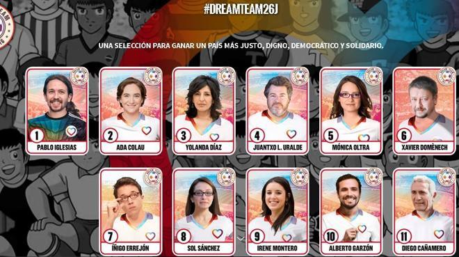 Los sueños de campeón de Unidos Podemos, en cromos