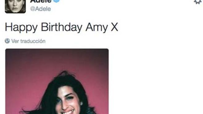 Adele le rinde un homenaje a Amy Winehouse