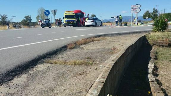 Foto del lugar del accidente/