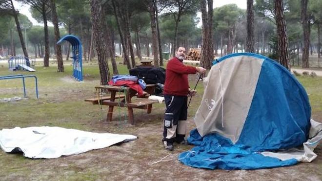 El primer 'motauro' ya acampa en Tordesillas