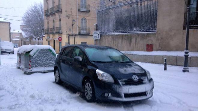 La nieve impide llegar a clase a 41 alumnos de los colegios de Prádena, Turégano y Ayllón