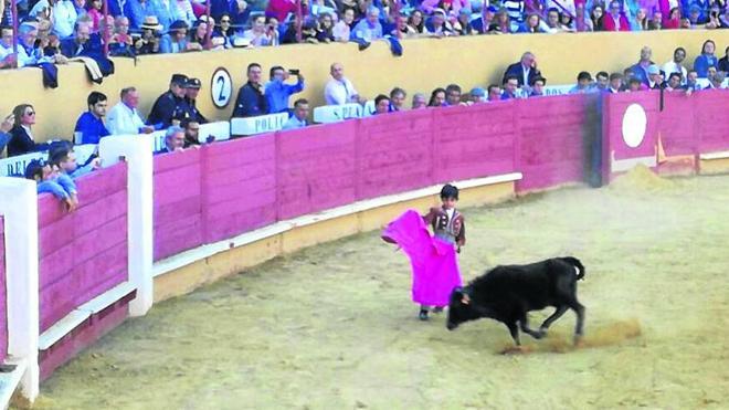 El niño de nueve años Marco Pérez encandila al público de la plaza de Ávila