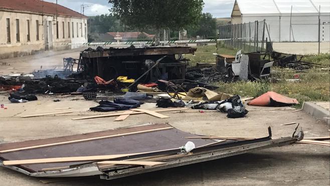 Muere un hombre que intentó quemar la caseta de un feriante en Salamanca