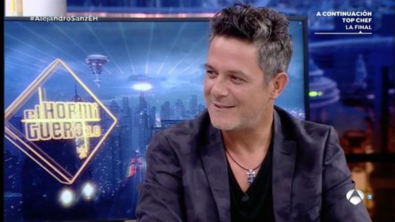 Alejandro Sanz expresa lo orgulloso que está de su hijo pequeño en 'El Hormiguero'